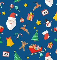 Christmas seamless pattern in flat style vector