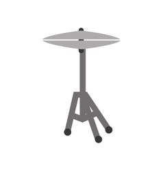 Drum plates music instrument vector