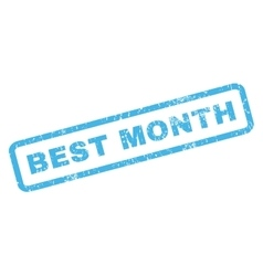 Best month rubber stamp vector