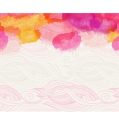Watercolour abstract background vector
