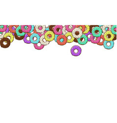 lots of donuts with colorful vector image