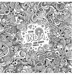 Cartoon hand-drawn doodles india vector