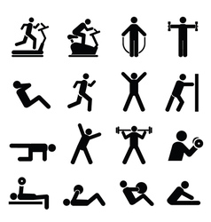 Exercise icons vector image