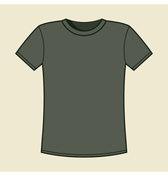 Blank gray t-shirt template vector