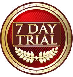 seven day trial icon vector image