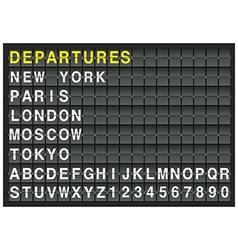 departure vector image