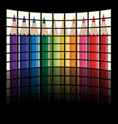 Lcd tv panels - rainbow crayons vector