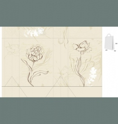 template for decorative bag vector image