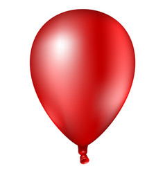 3d realistic colorful red balloon vector