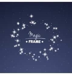 Magic frame for your text from shiny stars vector