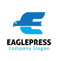 Eagle press design vector