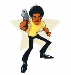afro hero vector image