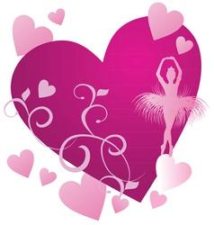 ballerin magenta heart vector image vector image