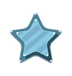blue cartoon star vector image