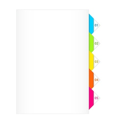Colorful Numbered Bookmarks vector image