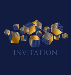Concept 3d geometric cubes composition vector