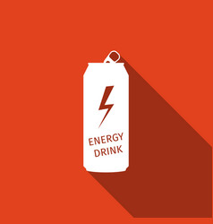 Energy drink flat icon with long shadow vector