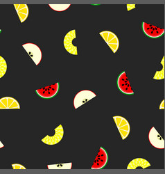 fruit seamless pattern - background vector image vector image