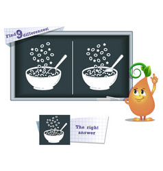game find 9 differences cereals vector image vector image