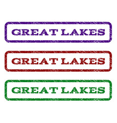 Great lakes watermark stamp vector