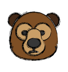 Grizzly bear icon vector