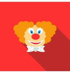 Head of clown icon flat style vector image