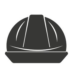Helmet worker security icon vector