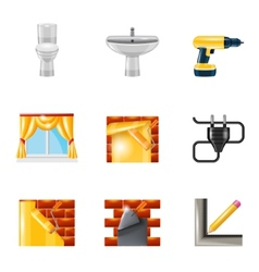 Home repair icons realistic vector image