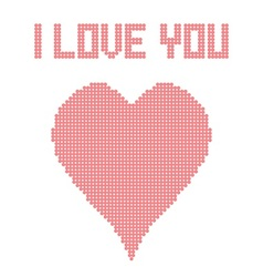 I Love You Heart vector image