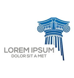 law building logo abstract vector image