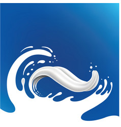 milk splash with tongue vector image