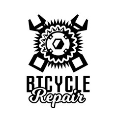 Monochrome logo mountain bike repair vector