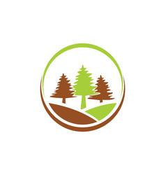 Pine tree icon logo vector