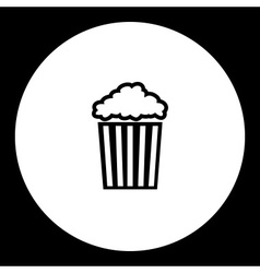 popcorn in striped box typical cinema food vector image vector image