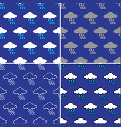 rain cloud pattern seamless vector image