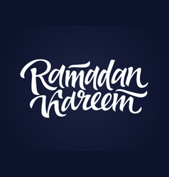 Ramadan kareem - hand drawn brush lettering vector
