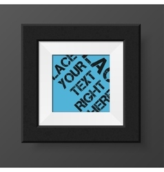 Realistic blank photo frame vector