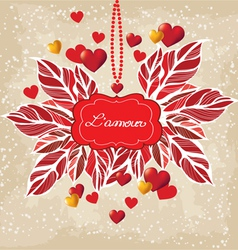 Romantic background Valentines Day vector image vector image