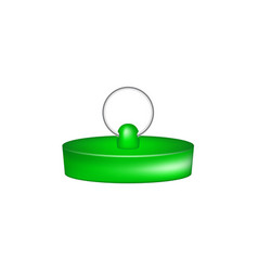 Rubber plug in green design vector