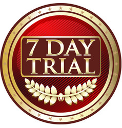 seven day trial icon vector image vector image