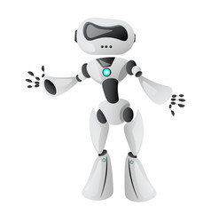technological realistic robot vector image