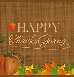 Thanksgiving day background design vector