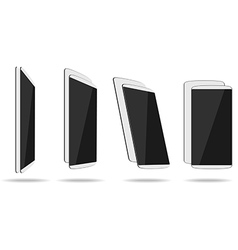 White thin smartphones face and back different vector image vector image