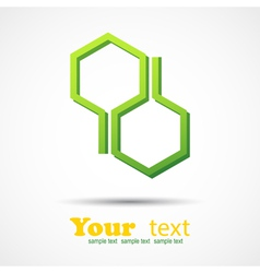 Honeycomb design element background vector