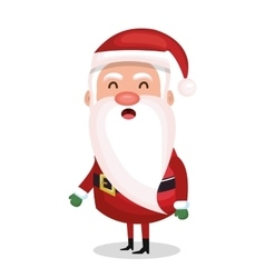 Santa claus standing merry christmas design vector