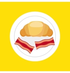 Delicious food dish menu icon vector