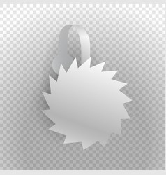 shelf wobbler discount label isolated on vector image