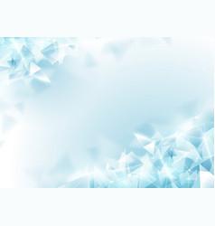 Abstract soft blue polygon and molecular vector