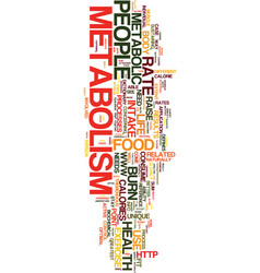 Metabolism for the fit individual text background vector