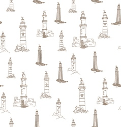 205 pattern with lighthouses vector